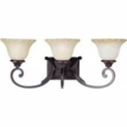 Maxim Three Light Oil Rubbed Bronze Wilshire Glass Vanity - 13513WSOI