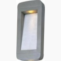 Maxim Two Light Frosted Glass Platinum Outdoor Wall Light - 18254PL