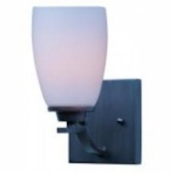 Maxim One Light Oil Rubbed Bronze Satin White Glass Wall Light - 20020SWOI