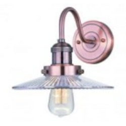 Maxim One Light Clear Glass Antique Copper Wall Light - 25085CLACP