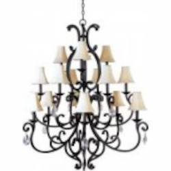 Maxim Fifteen Light Colonial Umber Up Chandelier - 31007CU