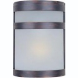 Maxim One Light Oil Rubbed Bronze Frosted Glass Outdoor Wall Light - 86005FTOI