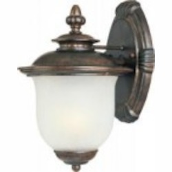 Maxim One Light Chocolate Frost Crackle Glass Wall Lantern - 86293FCCH