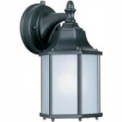 Maxim One Light Empire Bronze Frosted Glass Wall Lantern - 86926EB