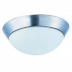 Maxim Polished Chrome Satin White Glass Bowl Flush Mount - 87562SWPC