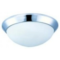 Maxim Polished Chrome Satin White Glass Bowl Flush Mount - 87564SWPC