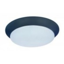 Maxim Bronze White Glass Bowl Flush Mount - 87590WTBZ