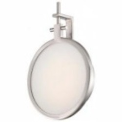 Minka George Kovacs Thirty Light Brushed Nickel Clear / Inside White Glass Wall Light - P1105-084-L