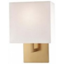 Minka George Kovacs One Light White Fabric Shade Honey Gold Wall Light - P470-248