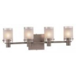 Antique Nickel 4 Light 22.5In. Bathroom Vanity Light From The Chimes Collection
