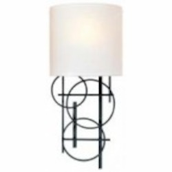 Black 1 Light 18.25in. Height Wall Sconce
