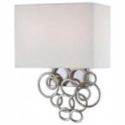 Chrome 2 Light Wall Sconce from the Ringlets Collection
