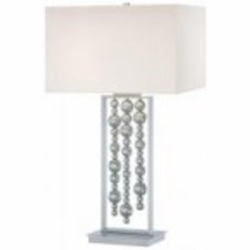 Chrome 2 Light 33.5in. Height Table Lamp from the Decorative Portables Collection