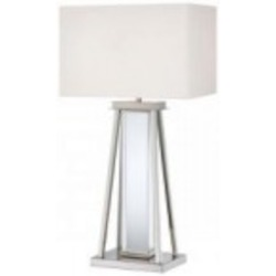 Polished Nickel 2 Light Table Lamp from the Decorative Portables Collection