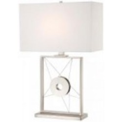 Polished Nickel 1 Light Accent Table Lamp