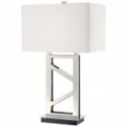 Polished Nickel 1 Light Table Lamp