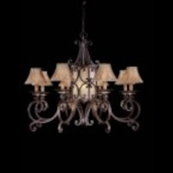 Minka Metropolitan Golden Bronze Golden Bronze Salon Scavo Glass / Optional Shade-sh1949 Shade Up Chandelier - N6244-355