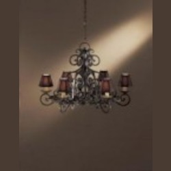 Minka Metropolitan Six Light Black Forest Up Chandelier - N6311-BF