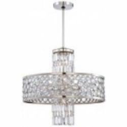 Minka Metropolitan Thirteen Light Polished Nickel Clear Crystal Accents Glass Up Chandelier - N6759-613