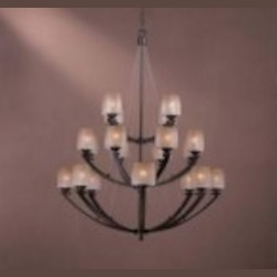 Minka-Lavery Twenty Light Black Up Chandelier - 1199-357