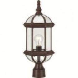 Nuvo Boxwood - 1 Light - 19'' Outdoor Post W/ Clear Beveled Glass - 60/4975