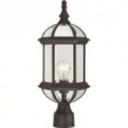 Nuvo Boxwood - 1 Light - 19'' Outdoor Post W/ Clear Beveled Glass - 60/4976