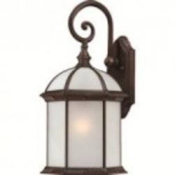 Nuvo Boxwood ES - 1 Light - 19'' Outdoor Wall W/ Frosted Glass - (1) 26W GU24 Base Lamp Included - 60/4985
