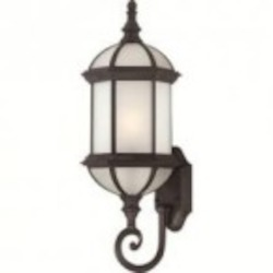 Nuvo Boxwood ES - 1 Light - 22'' Outdoor Wall W/ Frosted Glass - (1) 18W GU24 Base Lamp Included - 60/4993