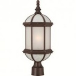 Nuvo Boxwood ES - 1 Light - 19'' Outdoor Post W/ Frosted Glass - (1) 18W GU24 Base Lamp Included - 60/4995