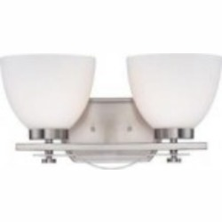 Nuvo Bentlley - 2 Light Vanity Fixture w/ Frosted Glass - 60/5012