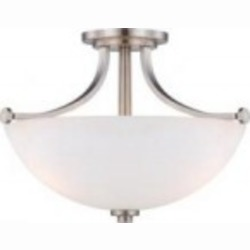 Nuvo Bentley - 3 Light Semi Flush w/ Frosted Glass - 60/5017
