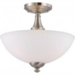 Nuvo Patton - 3 Light Semi Flush w/ Frosted Glass - 60/5044