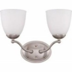 Nuvo Patton ES - 2 Light Vanity Fixture w/ Frosted Glass - (2) 13w GU24 Lamps Included - 60/5052