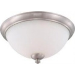 Nuvo Patton ES - 3 Light Flush Fixture w/ Frosted Glass - (3) 13w GU24 Lamps Included - 60/5061