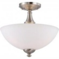 Nuvo Patton ES - 3 Light Semi Flush w/ Frosted Glass - (3) 13w GU24 Lamps Included - 60/5064