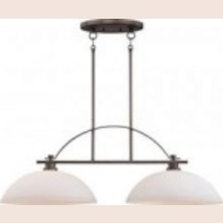 Nuvo Bentley - 2 Light Island Pendant w/ Frosted Glass - 60/5118