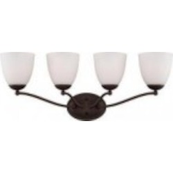 Nuvo Patton ES - 4 Light Vanity Fixture w/ Frosted Glass - (4) 13w GU24 Lamps Included - 60/5154