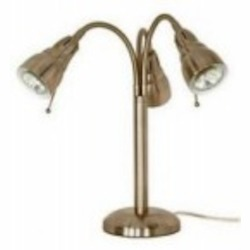 Satco Products Inc. TRI - HEAD HALOGEN GOOSENECK DESK LAMP - 60-872