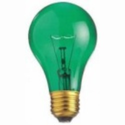 Satco Products Inc. 25 watt; A19; Transparent Green; 2000 average rated hours; Medium base; 130 volts - S6081