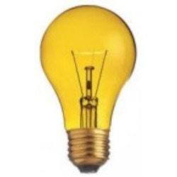 Satco Products Inc. 25 watt; A19; Transparent Yellow; 2000 average rated hours; Medium base; 130 volts - S6083