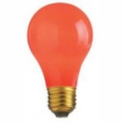 Satco Products Inc. 25 watt; A19; Ceramic Red; 1000 average rated hours; Medium base; 130 volts - S6090