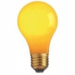 Satco Products Inc. 25 watt; A19; Ceramic Yellow; 1000 average rated hours; Medium base; 130 volts - S6093