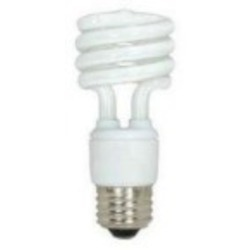 Satco Products Inc. 11 watt; Mini Spiral; compact fluorescent; 4100K; 82 CRI; Medium base - S7215