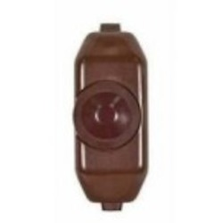 Satco Products Inc. BROWN 200W FULL RANGE ROTARY LINE DIMMER - 80-1481
