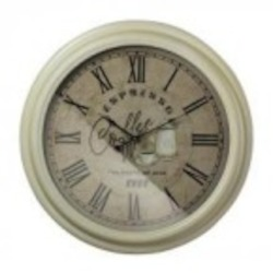 Sterling Industries Espresso Coffee Clock With Metal Frame - 118-041