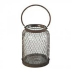 Sterling Industries Glass& Wire Mesh Hurricane (Lg) - 129-1039