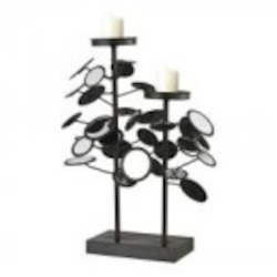 Sterling Industries Iron And Mirror Candle Holders - 129-1056