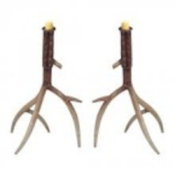 Sterling Industries Hope Valley-Set Of 2 Antler Candle Holder - 138-005/S2