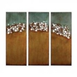 Sterling Industries Hollingworth-Set Of 3 Abstract Landscape Wall Panels - 138-011/S3