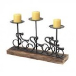 Sterling Industries Altringham-Abstract Cyclist Candle Holders - 138-027